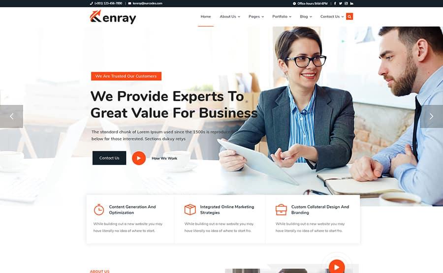 kenray-marketing-consultancy-agency-wordpress-theme