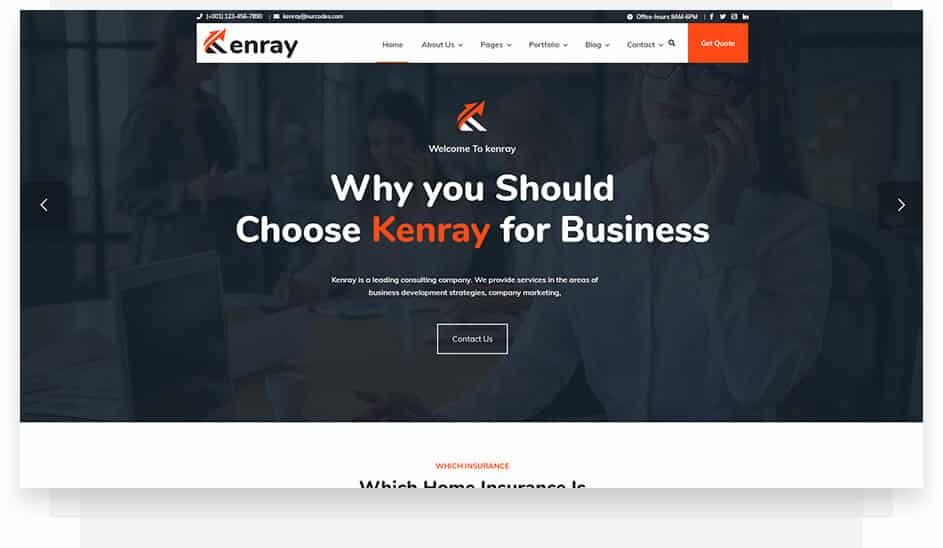 Marketing Consultancy WordPress theme - One Click Demo Import