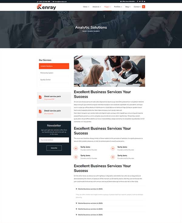 Kenray Consulting Business WordPress theme - Service Details