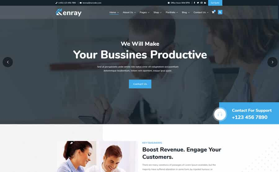 Financial services consultancy WordPress Theme