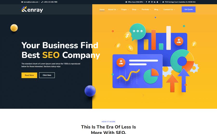 Kenray SEO Agency WordPress Theme